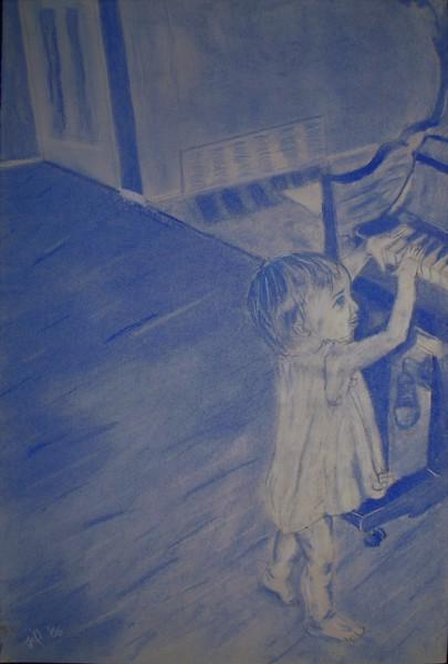 "conte crayon on paper, 14 x 17""   2006"