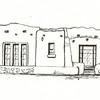 Pueblo Revival, Pen and Ink, 2011