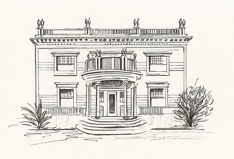 Neoclassical Revival, Pen and Ink, 2011