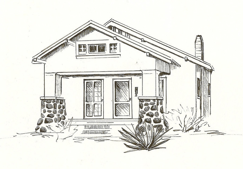 Bungalow, Pen and Ink, 2011