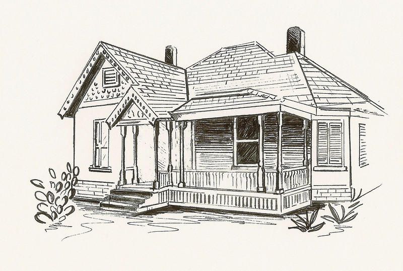 Queen Anne Revival, Pen and Ink, 2010