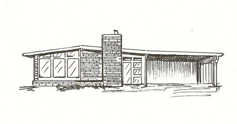 Mid Century Modern, Pen and Ink, 2011