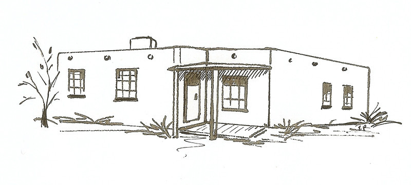 PostWar Pueblo, Pen and Ink, 2010
