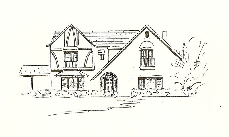 Tudor Revival, Pen and Ink, 2011