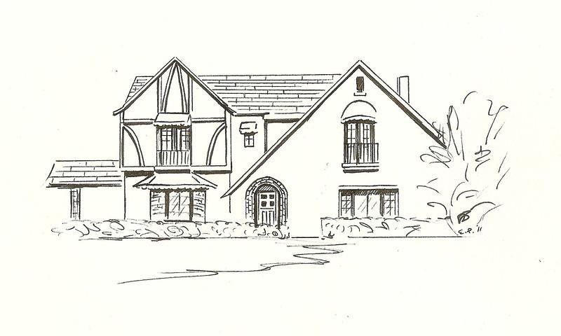 Tudor Revival, Pen and Ink, 2011
