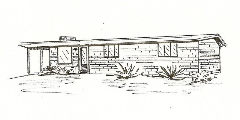 Tucson Ranch, Pen and Ink, 2011