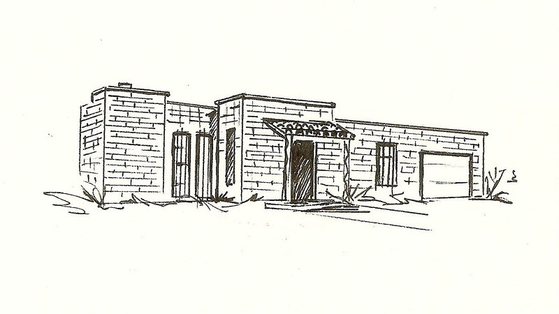 Postwar Territorial, Pen and Ink, 2010