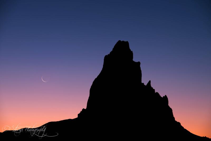 New Moon - Agathla Peak, Navajo Land, AZ