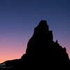 New Moon - Agathla Peak, Navajo Land, AZ