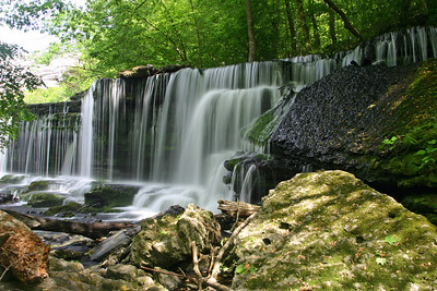 Waterfall on the Duck River in Old Stone Fort Park outside Manchester, TN.