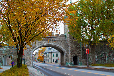 The Porte St. Louis entrance to old Quebec City, fall 2013.
