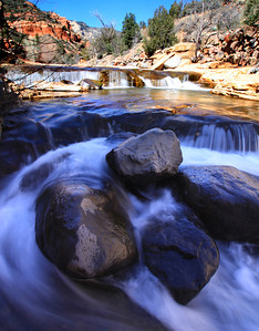 River cascade in Slide Rock Park near Sedona, AZ.