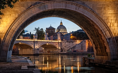 Tiber near the Vatican, Rome, Italy
