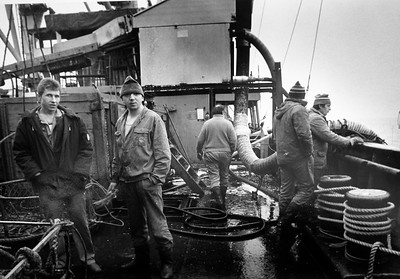 Gloucester: A Russian factory ship off the coast of Gloucester in 1988 would buy herring from the local fisherman and process it right on board.