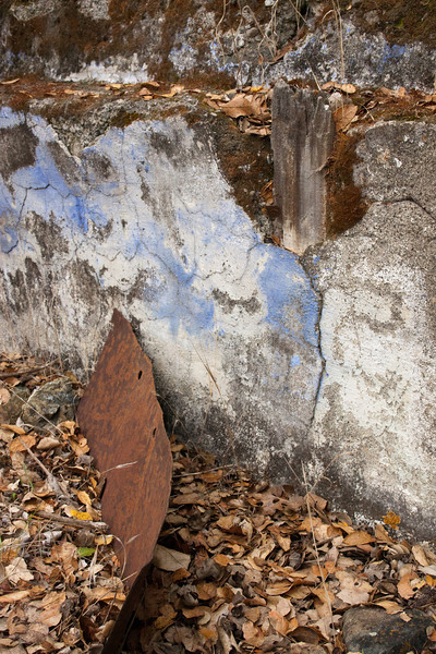 More old rusty things, old concrete--the red, yellow, and blue called to me.
