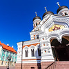 Exterior of the Alexander Nevsky Cathedral in Tallinn in Estonia, Eastern Europe