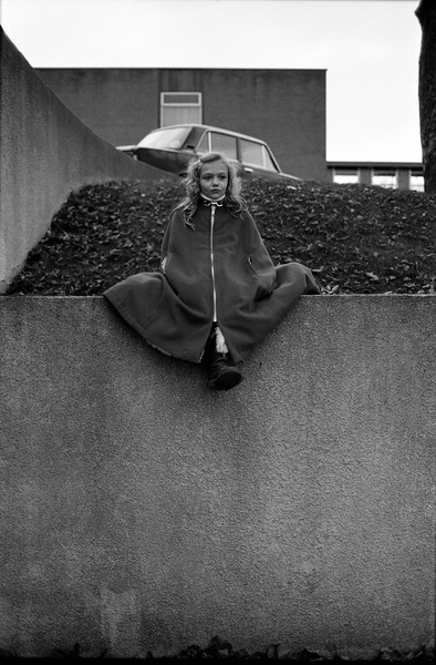 Girl with cape, Belgium, (Circa 1980). Original Fine Art Documentary Photograph by Michel Botman © north49exposure.com