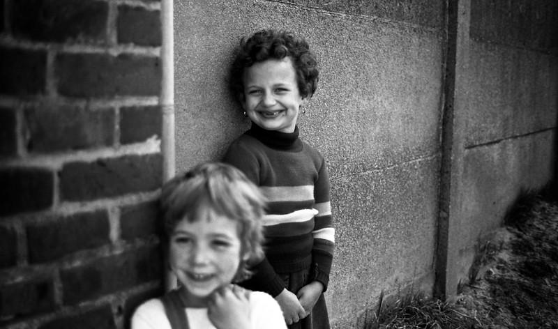 Young girls. Ellezelles, Belgium, (Circa 1980). Original Fine Art Documentary Photograph by Michel Botman © north49exposure.com