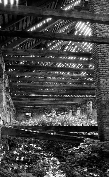 Old barn near Katowice, Poland (1976) © Michel Botman Photography