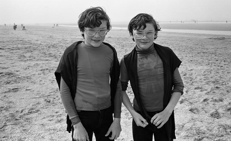 La Panne, North Sea, Belgium, (Circa 1980). Original Fine Art Documentary Photograph by Michel Botman © north49exposure.com