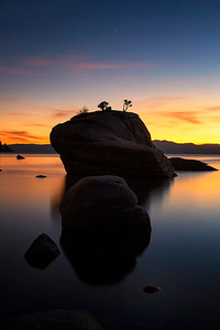 FamilyBonsai Rock, Lake Tahoe  Even granite boulders have families, right? I'm going to imagine it just that way.