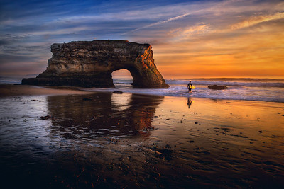 "To Surf the Zuvuya... Santa Cruz, California  The icons meet... sunset, the endless circle, the surfer.   Oh, and Zuvuya? Just think in terms of ""The Force"" and the endless circle of time/space and you'll be in the ballpark."