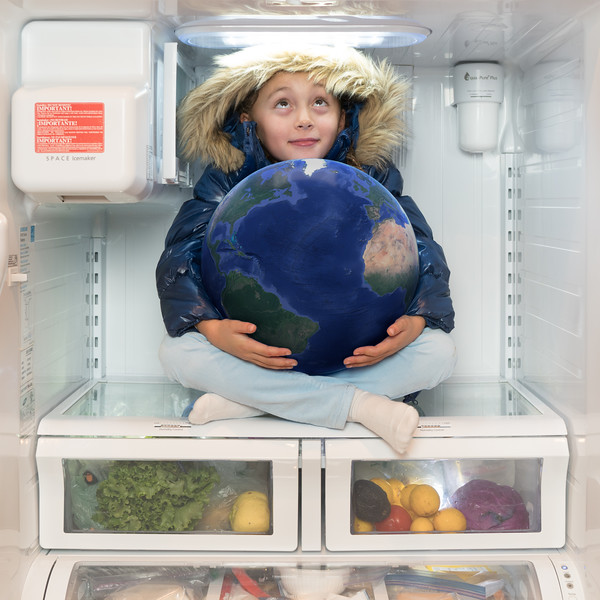 """I would place earth into the fridge to cool it down."""