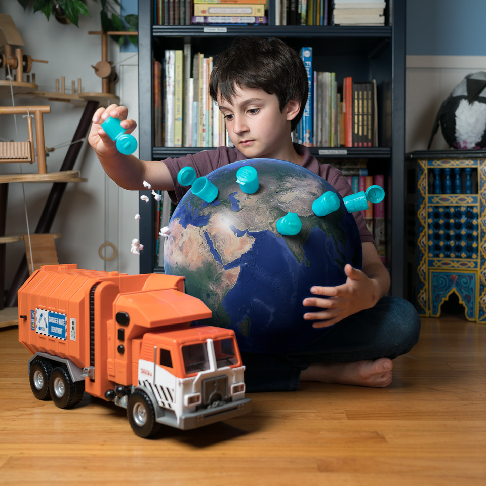 """I would take out all the trash... It would be so little  because of how tiny Earth would be."""