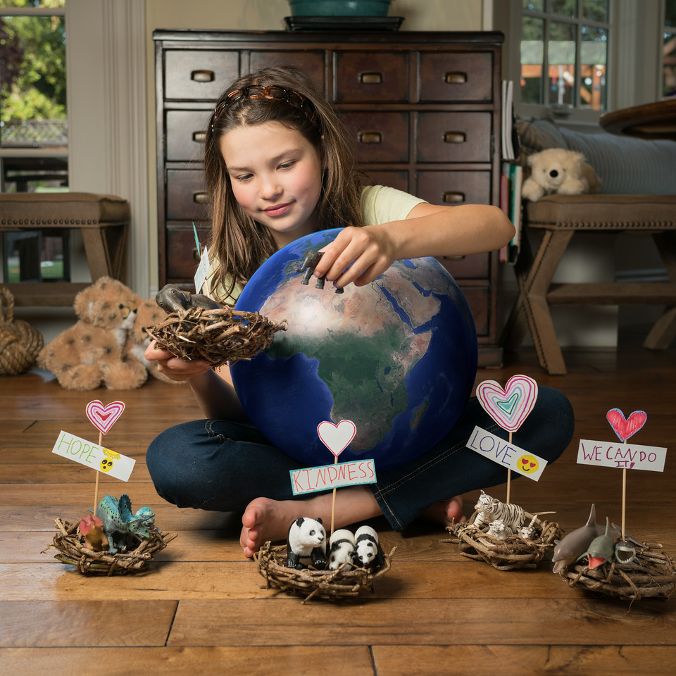 """I would pluck out all the endangered animals, help them re-breed, and put them back."""
