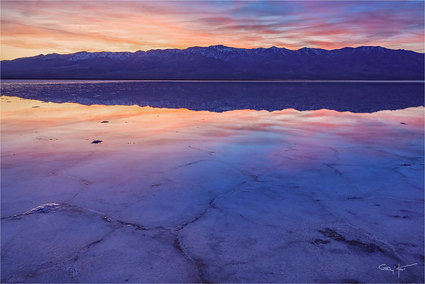 Sunset Reflection, Badwater, Death Valley