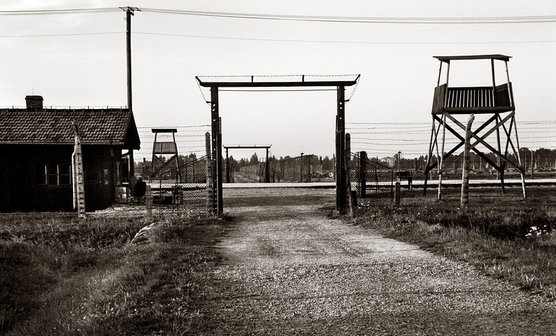 Birkenau--Selection site, or dividing platform at which Nazi doctors determined who would die immediately and who might live a while longer.  During a 52 day period in 1944, 438.000 Hungarian Jews were murdered here.