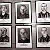 Auschwitz--Photos of victims taken by the SS, including two members of the same family (father, middle bottom, and son, middle top)