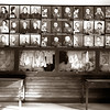 Auschwitz--Pictures of children murdered at Auschwitz plus displays of their clothing