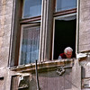 Budapest, man in window