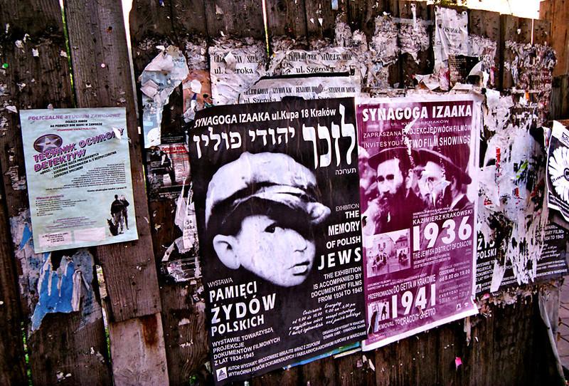 Krakow, Jewish Quarter billboard