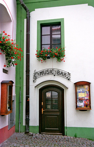 Cesky Krumlov (near Prague), music bar