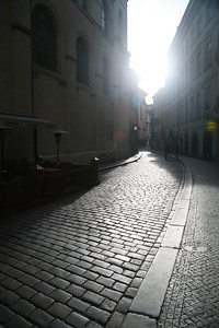 Cobblestone street, Prague