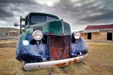 Rusting truck in Bodie, California