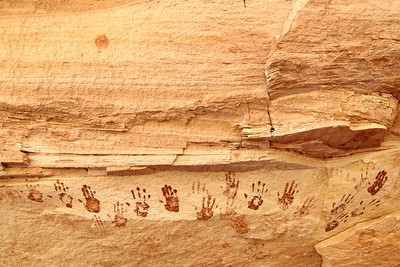 Ancient Handprints Natural Bridges National Monument