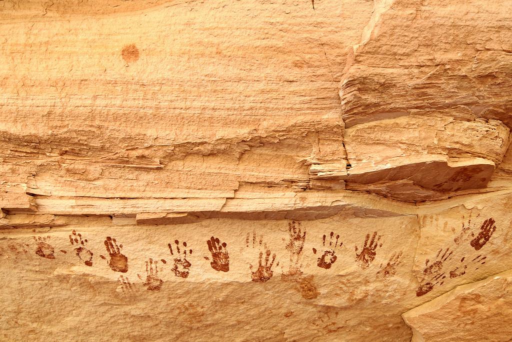 Ancient Handprints Natural Bridges National Monument
