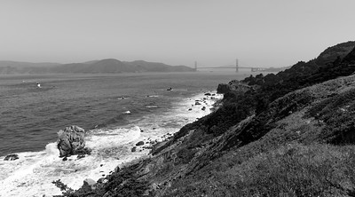 Lands End and the Golden Gate on a Lightly Foggy Day