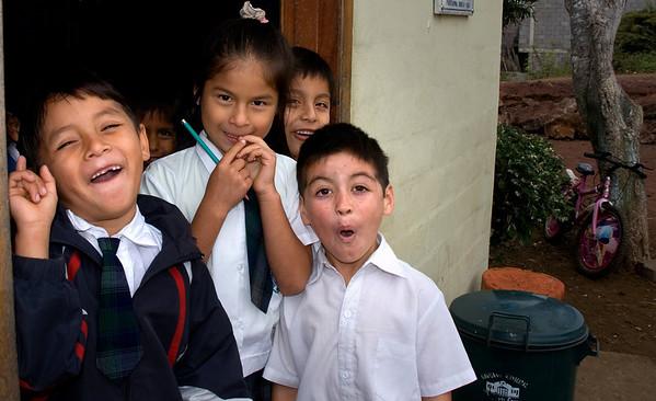 School children of Santa Cruz Island, Galapagos
