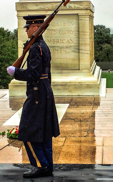Tomb of the Unknown Soldier; Washington DC; changing of the guard