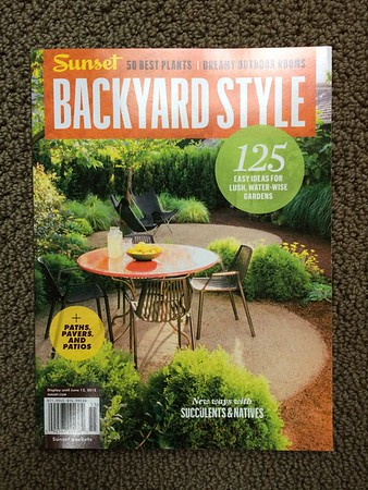 Sunset Backyard Style bookazine June 2015 with a nice collection of shots inside the pages