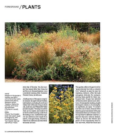 Landscape Architecture Magazine Dec 2018 interior spread of Sean Hogan's incredible landscape design at Argyle Winery page 4