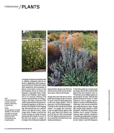 Landscape Architecture Magazine Dec 2018 interior spread of Sean Hogan's incredible landscape design at Argyle Winery page 3