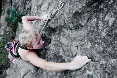 Climber at Vallorcine