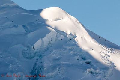 Climbers ascending Mont Blanc