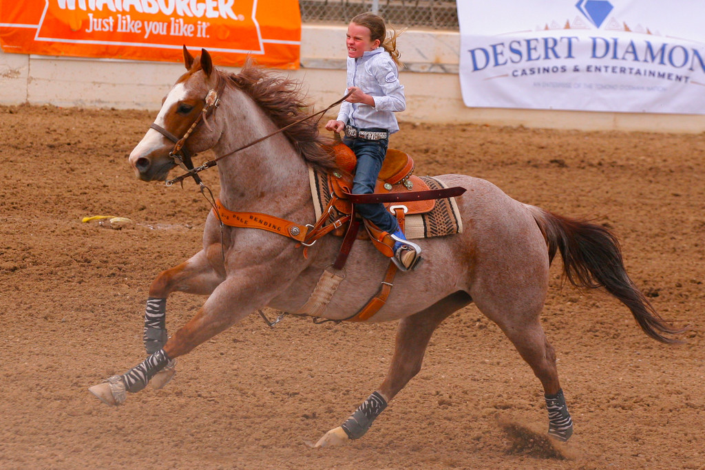 Tucson Rodeo angry competitor