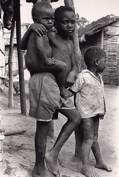 Haitian Children in a Sugar Worker's Batay in the Dominican Republic